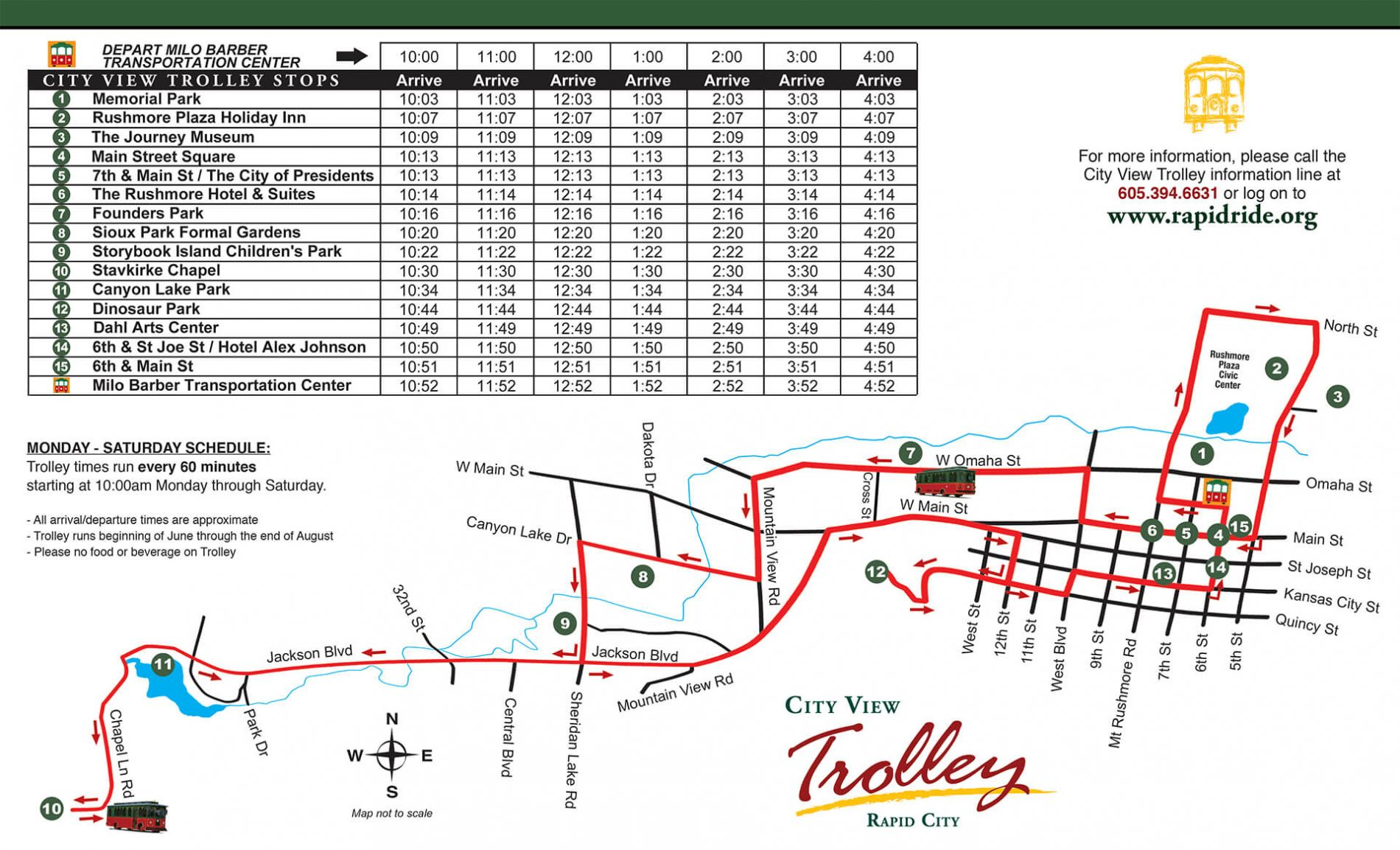 City View Trolley Map